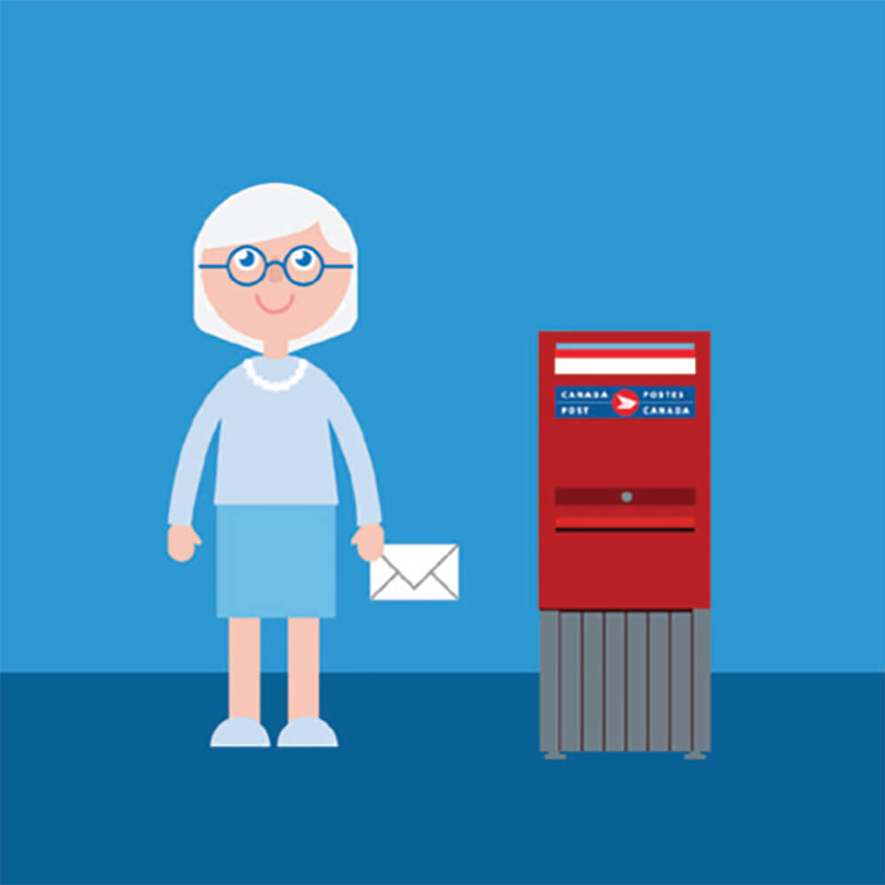 3. Retour - Par la suite, vous retournerez l'appareil à l'aide de l'enveloppe préaffranchie en la déposant dans une boîte aux lettres.