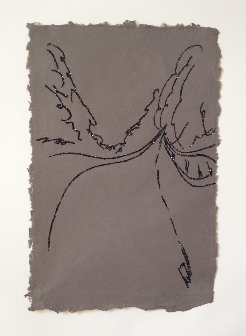 Glitter on paper, 2013  19 x 13 in.