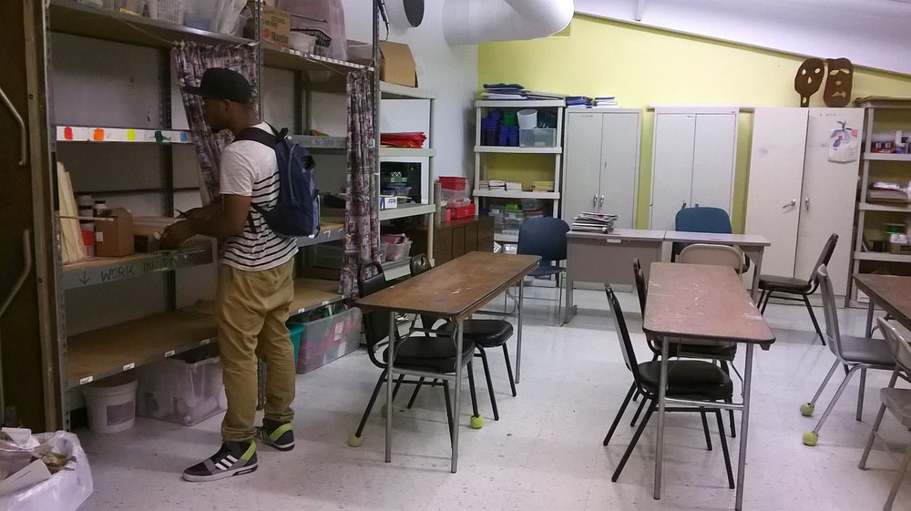 Prepping the art room
