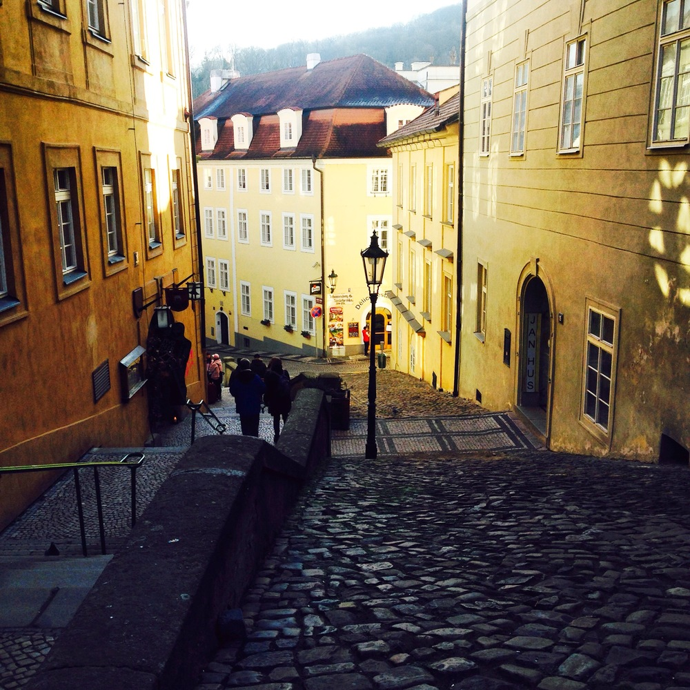 An alleyway in Prague