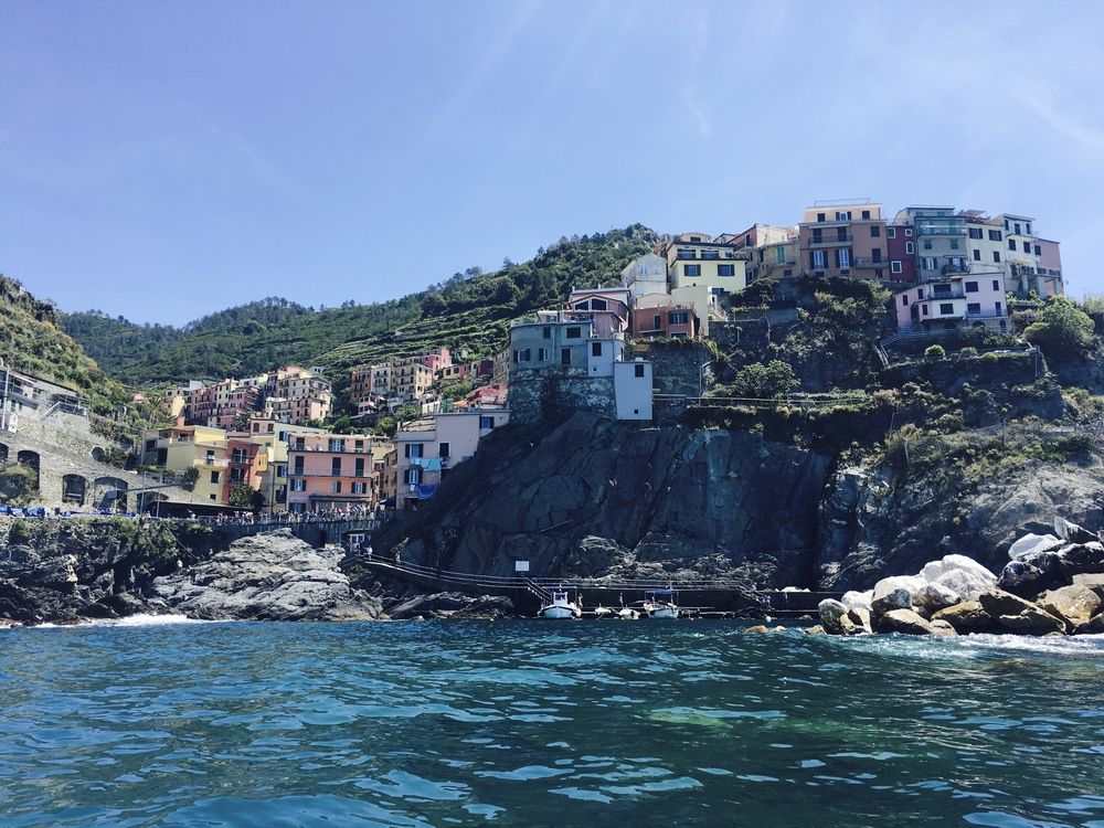 Manarola from the sea