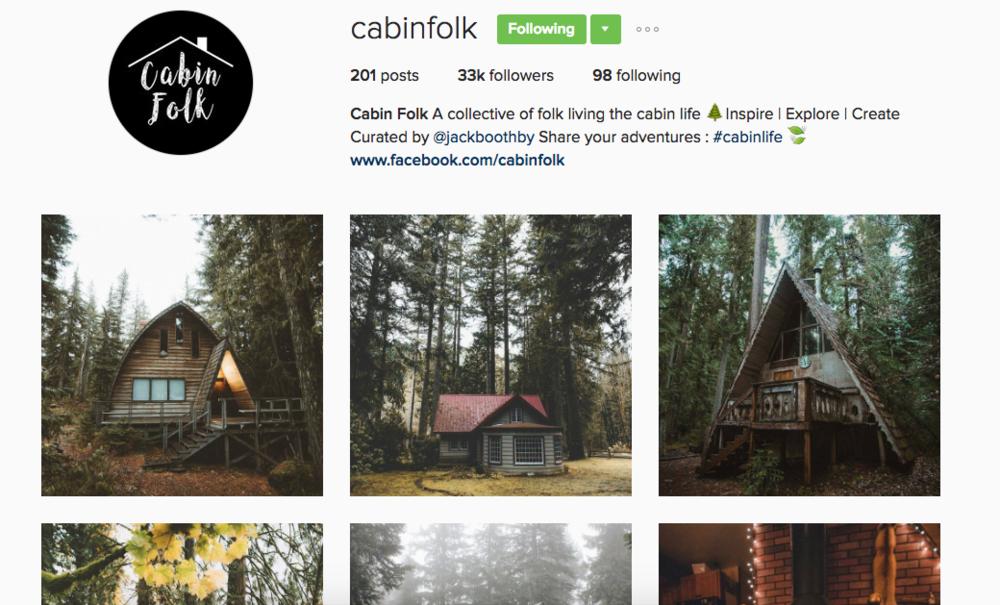 Cabin Folk Instagram