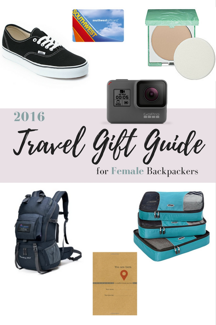 2016 Travel Gift Guide for Female Backpackers