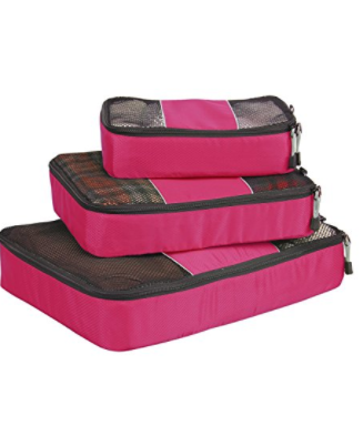 Hynes Eagle Travel Packing Cubes, 3 Piece Value Set