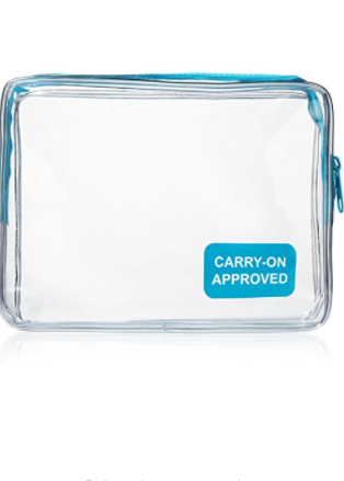 Kings Essential Clear Carry on Travel Toiletry Bag