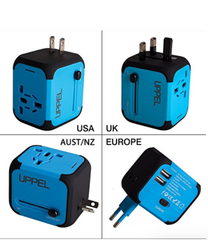 Travel USB Worldwide Adapter