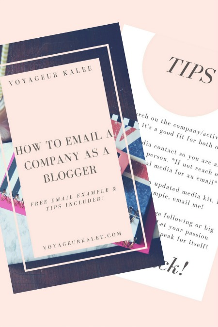 How to Email a Company as a Blogger