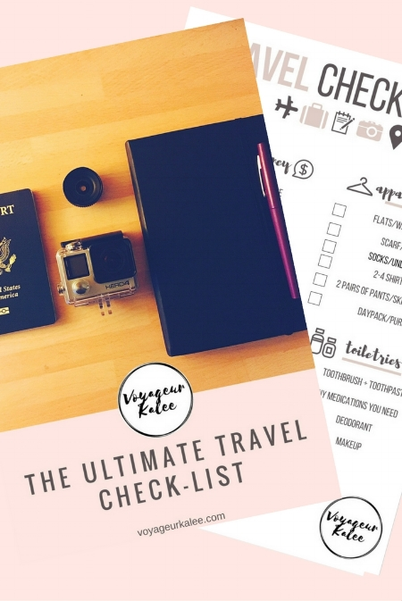 The Ultimate Travel Check-List