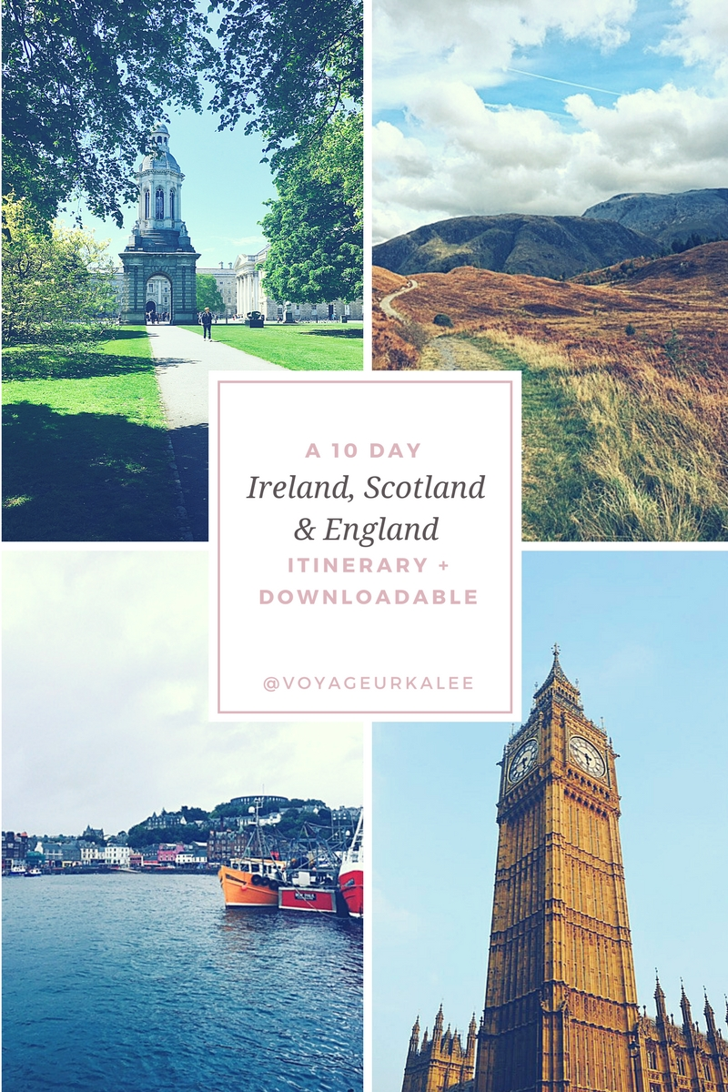 A 10 Day Ireland, Scotland & England Itinerary + Download