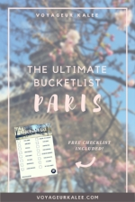 Ultimate Paris Bucket List