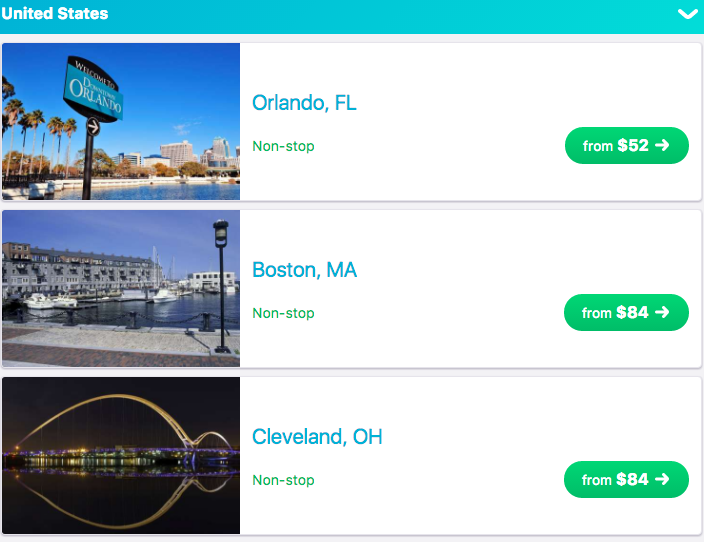 Places to Fly via Skyscanner