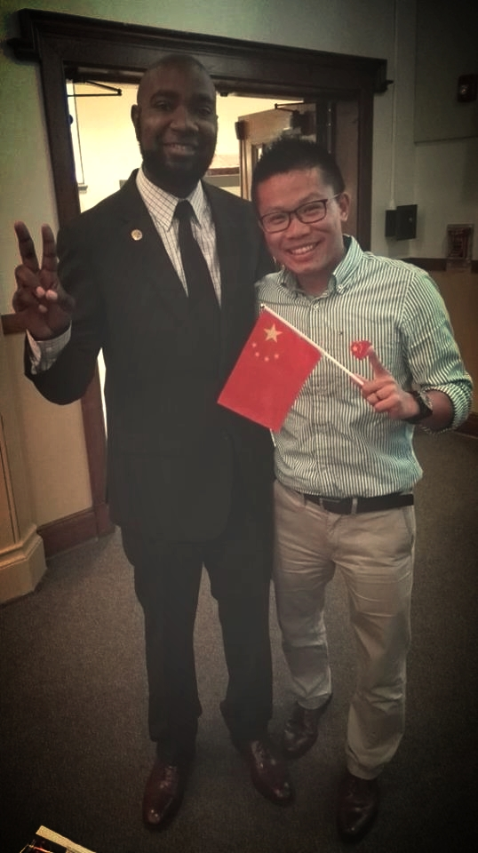 This is my new friend Theo. He was as excited as I was about the whole thing so we ended up taking this photo after President Xi and the Secret Service departed.