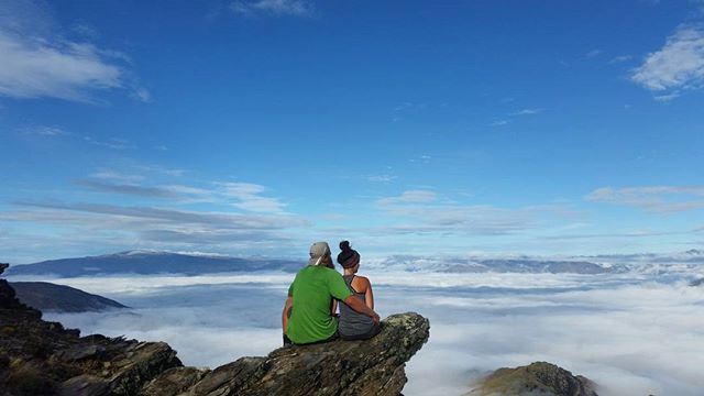 Dreaming with Jer above the clouds, reminiscing on all of our memories on the Te Araroa | I can't believe we only have 8 days left on the trail! We don't want this incredible journey to end! #TeAraroa