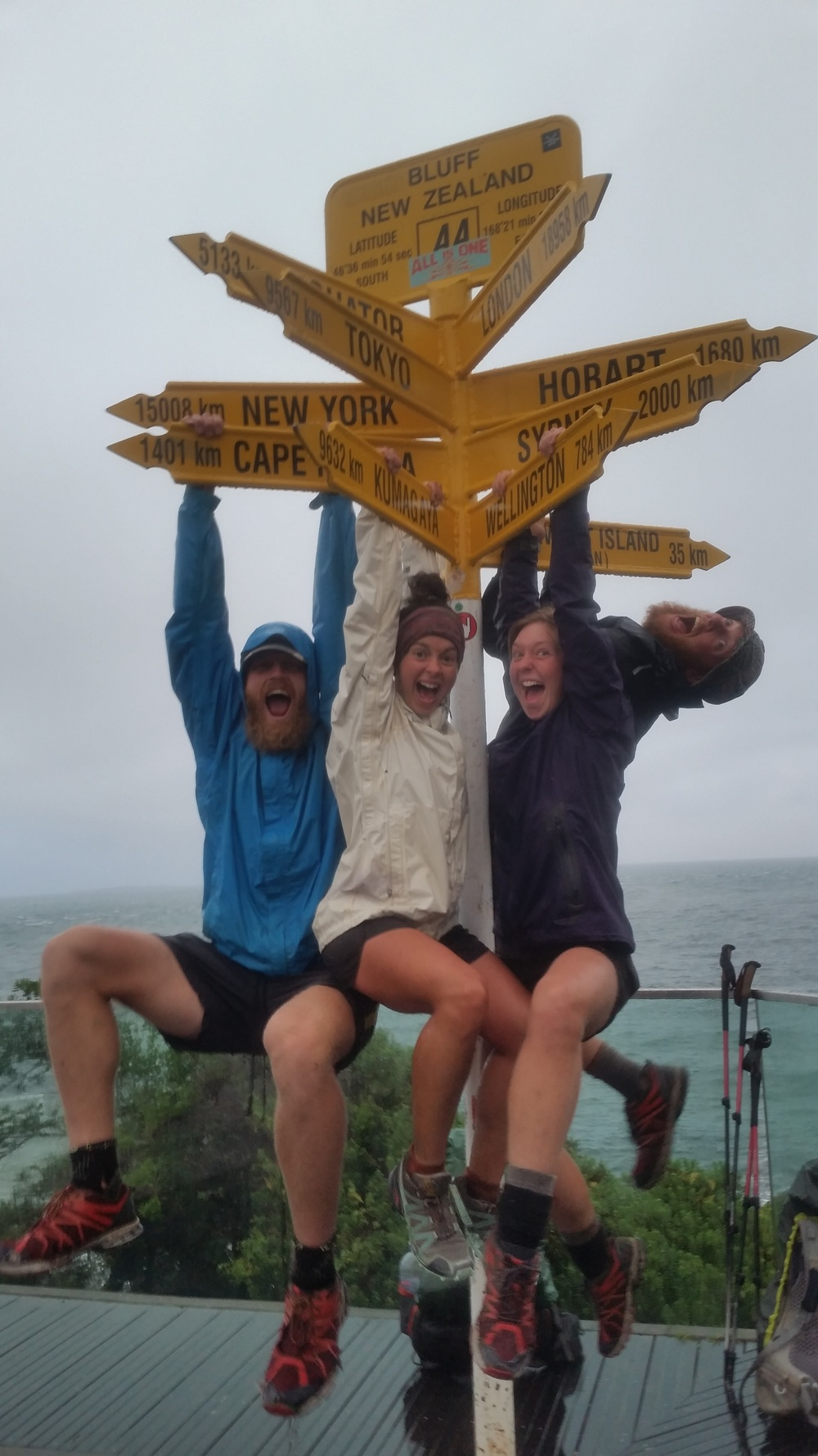 We started Day 1 at Cape Reinga together and 4 1/2 months later we finished together at Bluff!
