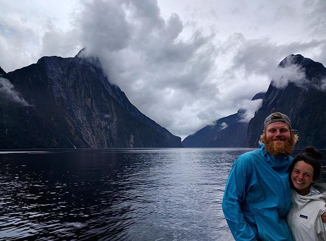 After finishing the trail, we decided to celebrate with a New Zealand road trip-- first stop Milford Sound! We took a cruise around the sound and our minds were blown. I've never seen so many waterfalls! Truly, it was the most beautiful place I've ever been! 🗻❤️