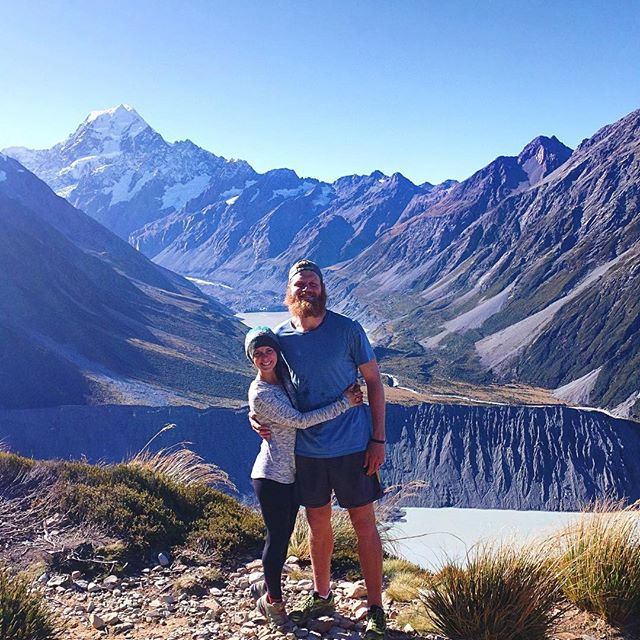 One of my favorite days in New Zealand was hiking up to Sealy Tarns where we had a magnificent up-close view of Mount Cook! More adventures from our New Zealand road trip are up on the blog now. I miss hiking with my best friend! 🗻💙