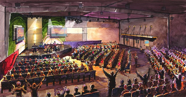 Worship Area Rendering