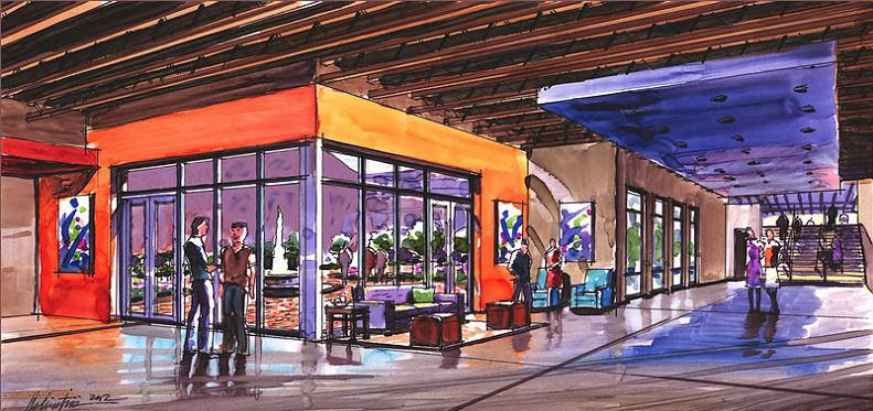 Lower Lobby Rendering