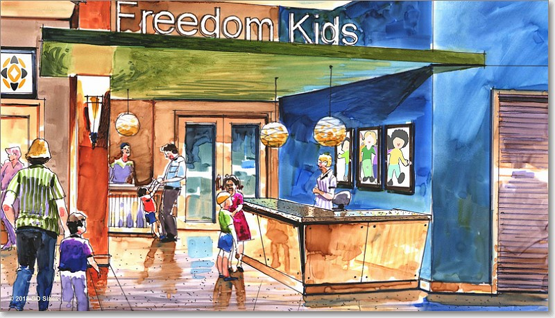 Kids Area Rendering