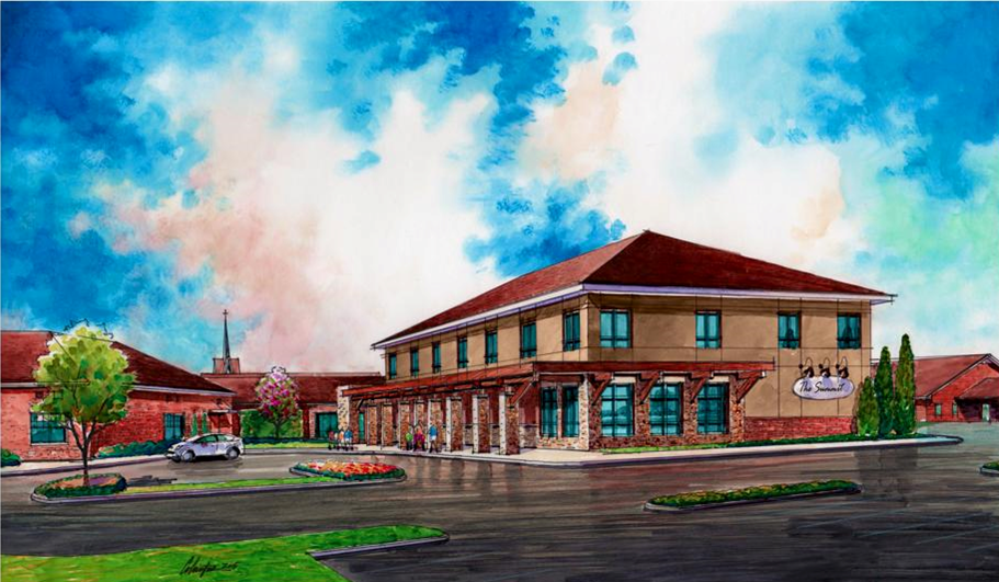 Rendering of the new Education Building