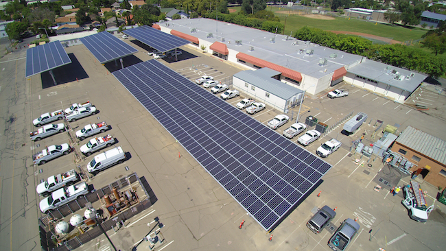 Hazelton Corporate Yard - 600 kW Parking Shade Structures