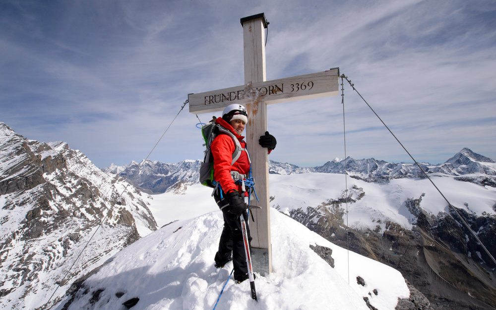 Andino on a Swiss summit