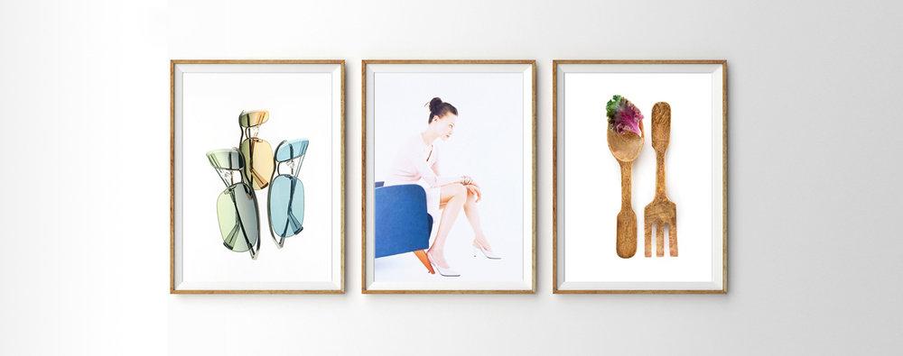 Art Direction: Modo (left), Avon (middle), Williams-Sonoma (right)