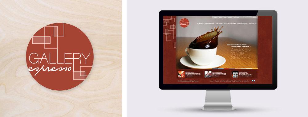 Branding and Website Design: Gallery Espresso