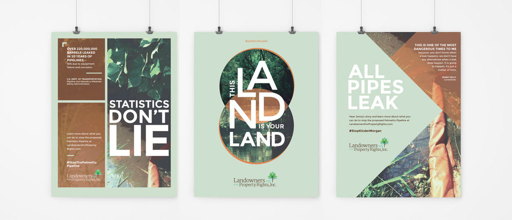 Branding and Poster Designs:  Landowners For Property Rights