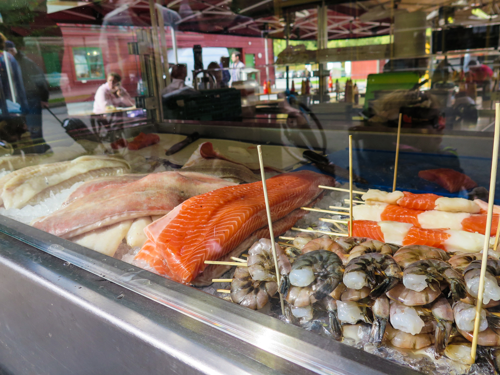 Variety of fresh fish