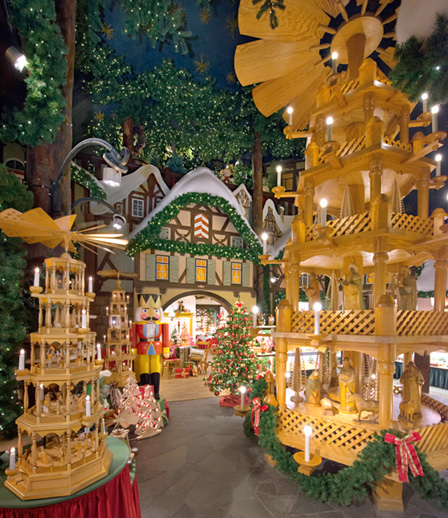 Photography is not allowed inside, but here are a few pictures from their website. http://wohlfahrt.com/en/christmas-stores/rothenburg-ob-der-tauber/the-christmas-village-in-rothenburg-ob-der-tauber