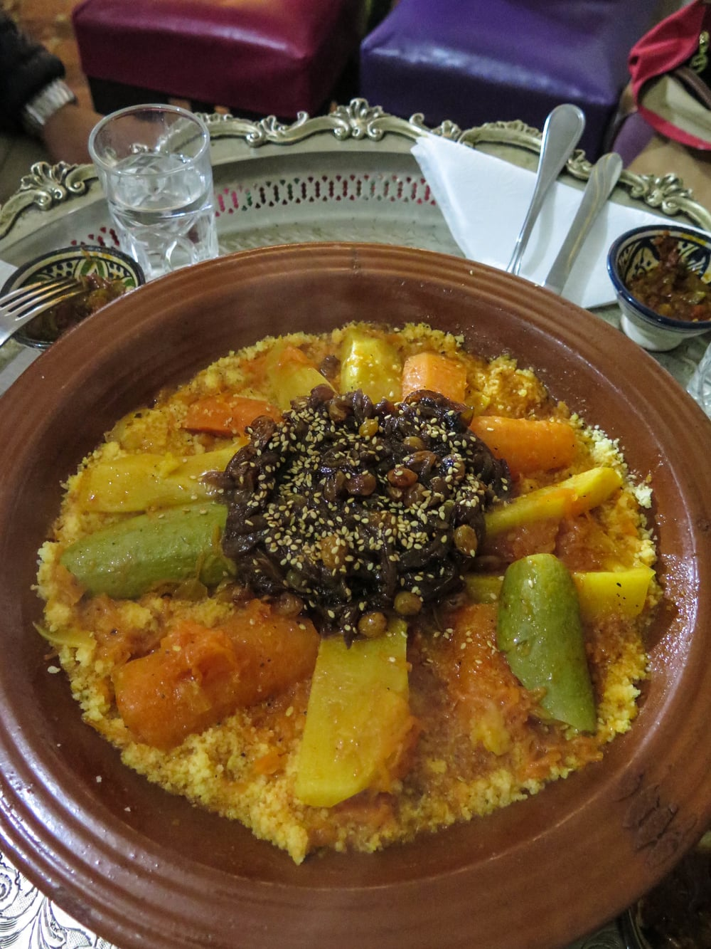 Couscous with veggies and carmelized onions