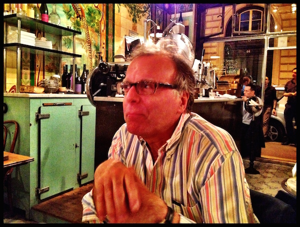 Mon pere at Vivant, a restaurant in an old  oisellerie  (bird shop!)