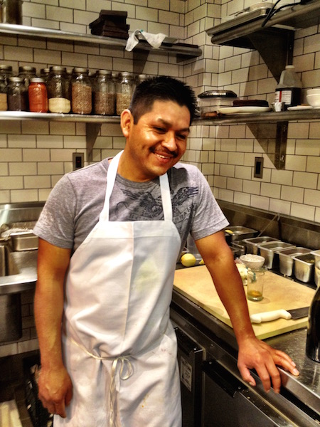 Javi! He was the first person to walk through the door when we were opening Mill Valley Beerworks.Within two years he went from dishwasher to garde manger to grill to saute to sous chef. Total badass.