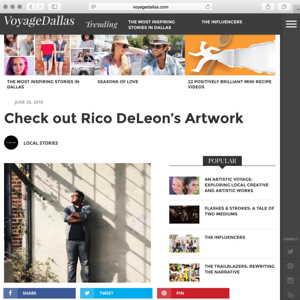Rico's Voyage Dallas Magazine Interview