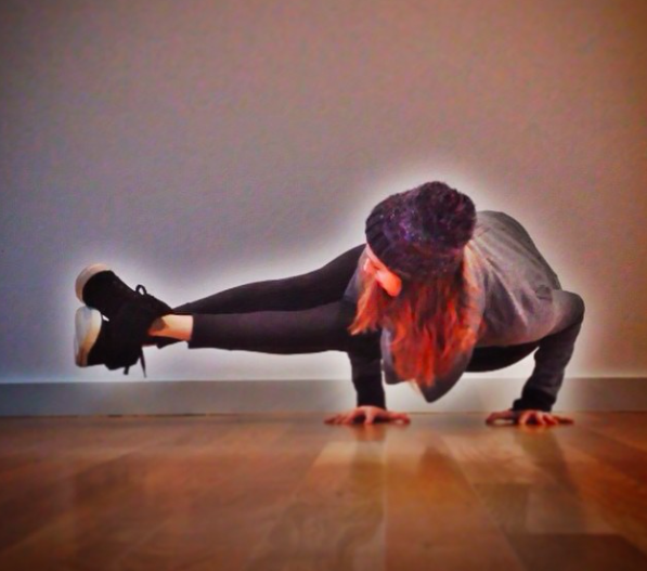 Day 10. Astavakrasa. Stay tuned for a how-to video on how to get into this pose! It's easier than it looks…promise!