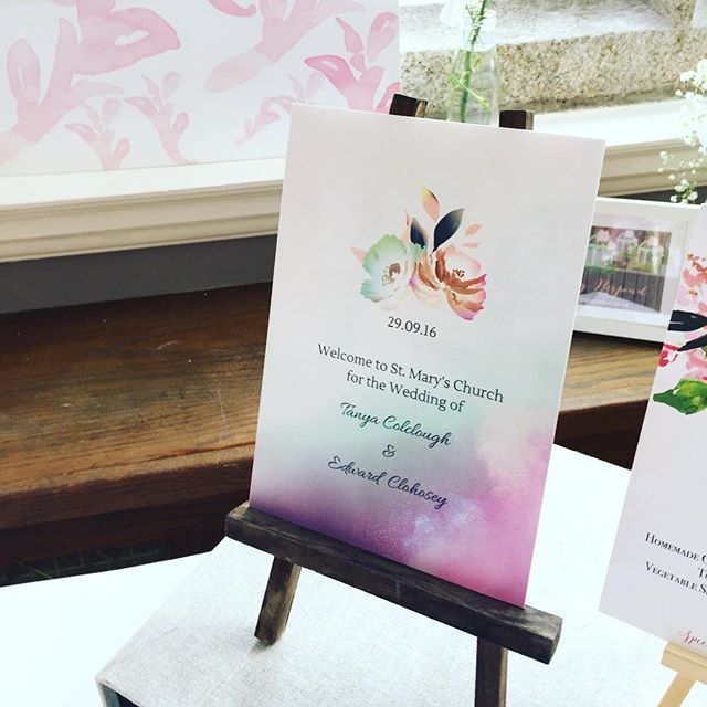 Feeling nostalgic!! Here is my wedding ceremony booklet from our @castlemartyr_resort wedding. We went for bright and colorful with watercolour washes and lovely florals. I say we but I don't think Ted had much of a choice 😀💕