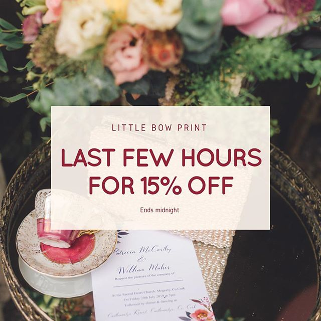 Last few hours for 15% off our Athena range and stationery!! If you get in touch use the code 15OFF. Or the code can be used on our website too