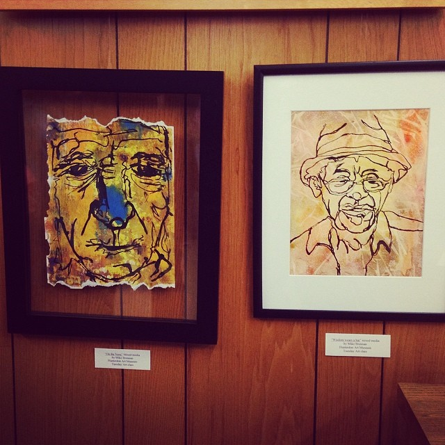 2 pieces in the show at the flemington library. At the opening 1-2:30pm.