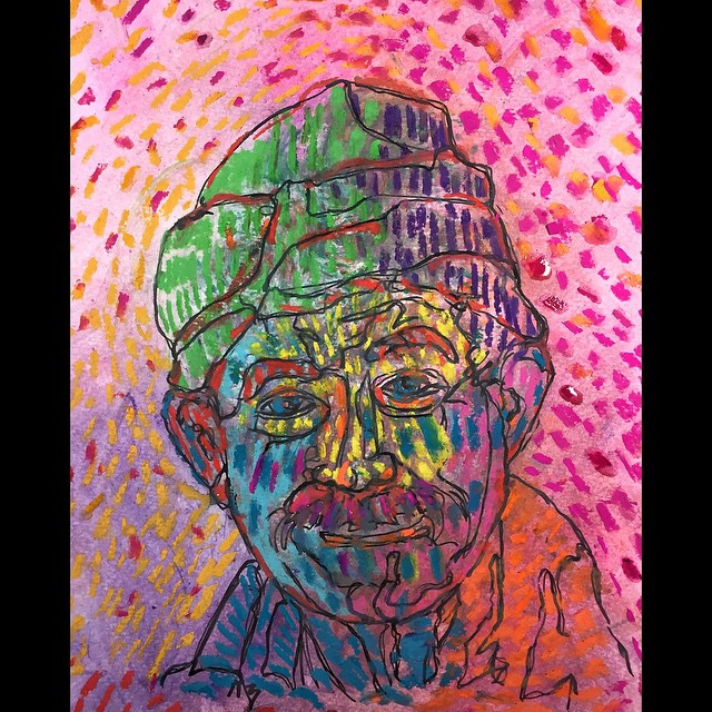live out loud watercolor crayon acrylic paint marker and wet chalk
