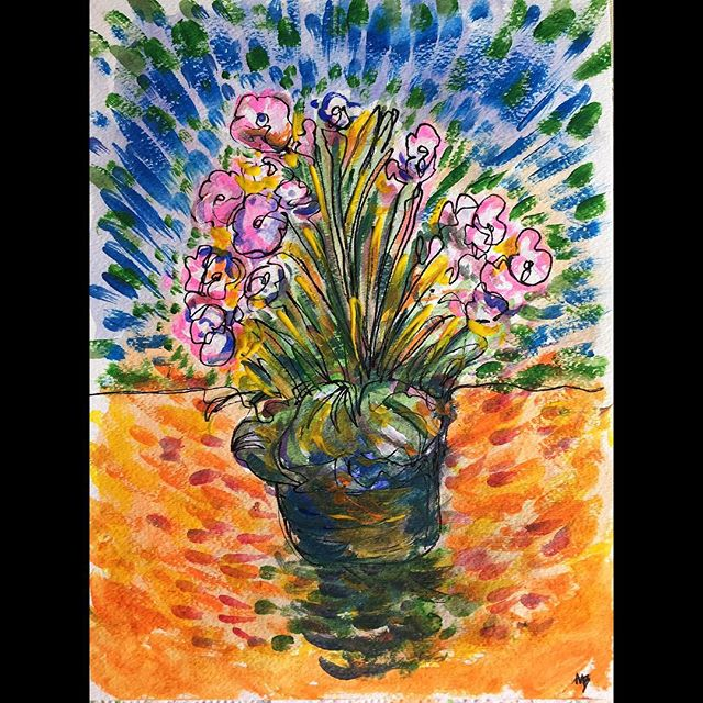 Art Painting Flowers Adirondack Newyork Ny Nature Color Drawing SQ Plants Mike Brennan Design