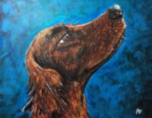 Irish Setter. Acrylic on Canvas.