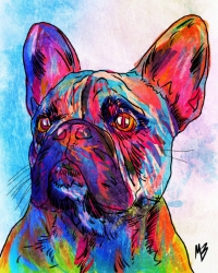 French Bulldog Digital Pet Portrait