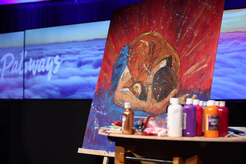 Mike Brennan Live Painting Worship