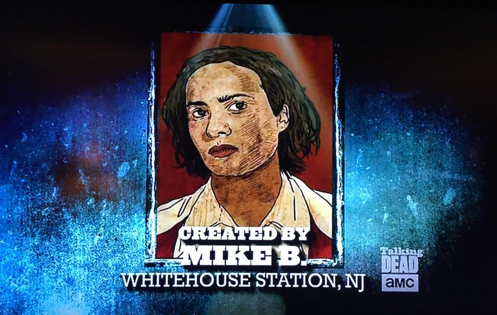 My Nick Clark / Frank Dillane fan art feature on AMC's Talking Dead with host Chris Hardwick. August 21, 2016.