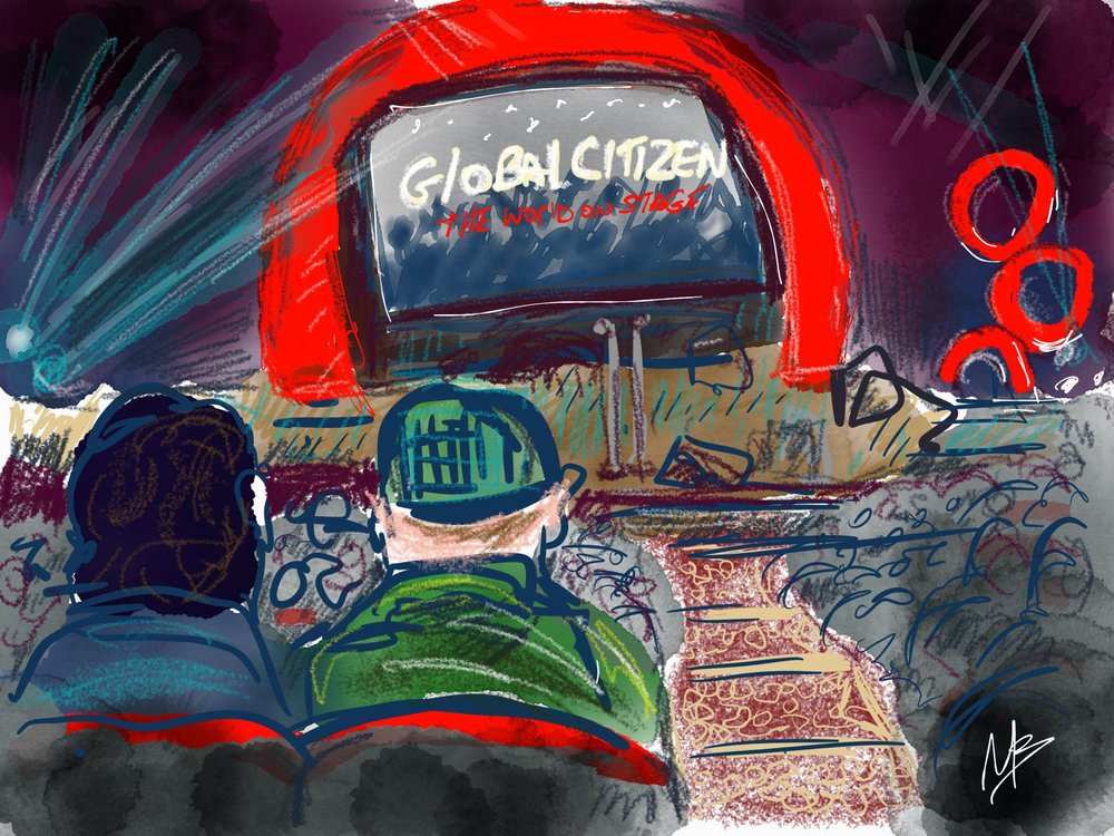 A live sketch i created during Global Citizen's Word on Stage event at the NYU SKIRBALL CENTER, NYC, Thursday, September 22nd 2016.