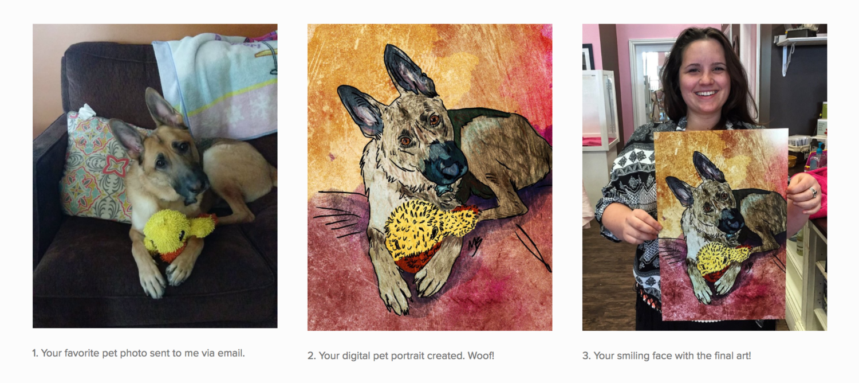 Custom Pet Portriats