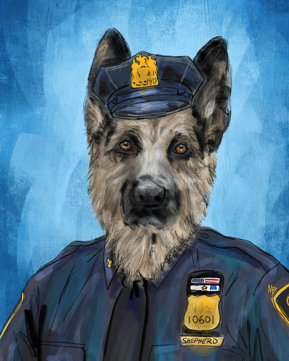 Police officer german shepherd