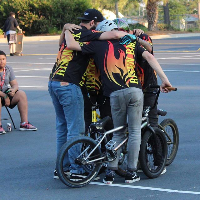Best part of what our team does it's amazing when you the lord on your side #bmx #bmxshows @kyuhhl @louiecortese177 @zachs_bmx @jordancgrabowski