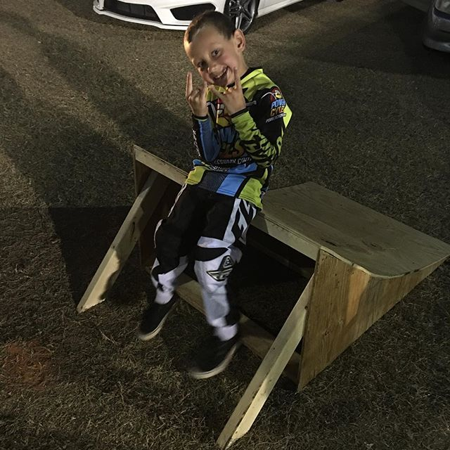 Team rider @rickyrocketbmx did a awesome thing for a friend of his that rides at the track in supports us he made @j_boo2011 a ramp so he can do his stunts and get better to be just like the rocket that's what's it's about all for the kids #bmx